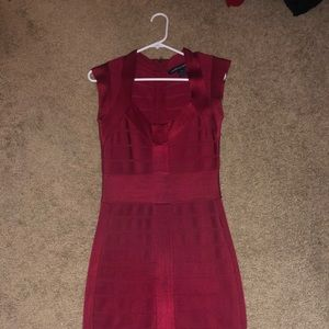Red French connection bandage dress